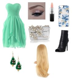 """""""Lillith party outfit!"""" by eviehartleytull on Polyvore featuring Pierre Balmain, Dsquared2, Sonix and MAC Cosmetics"""
