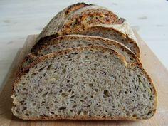 Nadýchaný pětizrnný chléb z kvasu Bread Baking, Bread Recipes, Ham, Banana Bread, Cooking, Desserts, Breads, Brot, Baking