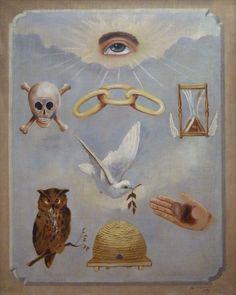 Odd Fellows, Symbols, Painting, Freemason, Lute, Linen Fabric, Painting Art, Paintings, Painted Canvas