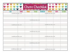 Household Chore Checklist | Do Your Chores Pad | KNOCK KNOCK ...