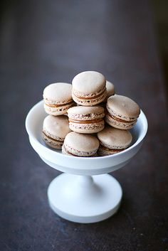 Caramel macarons by Call me cupcake, via Flickr
