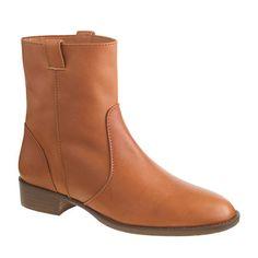 "A cross between a cowboy boot and a classic motorcycle style, this pair will go literally everywhere. <ul><li>1 1/4"" heel.</li><li>Leather upper and lining.</li><li>Import.</li><li>Online only.</li></ul>"