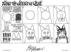 Kliban's Cats - this one was from a pack of postcards. I loved it that he spelled it 'qat'. I remember that really tickling me :)