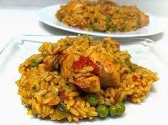 Varomeando: Arroz con pollo