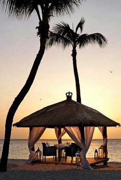 Romantic evening on the beach