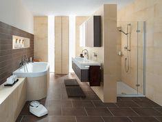 Wandgestaltung In Erd  Und Naturfarben Wandbefestigter Waschbeckenschrank |  Badezimmer | Pinterest | Bathroom Inspiration