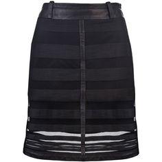 KELLY WEARSTLER Embroidered stripe skirt ($450) ❤ liked on Polyvore