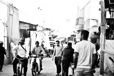 Morocco, Marrakech, Medina, Market, black and white