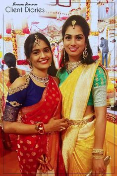 Looking for South Indian bride with patchwork blouse? Browse of latest bridal photos, lehenga & jewelry designs, decor ideas, etc. Pattu Saree Blouse Designs, Saree Blouse Patterns, Sari Bluse, Banaras Sarees, Blouse Models, South Indian Bride, Indian Bridal, Beautiful Saree, Beautiful Bride