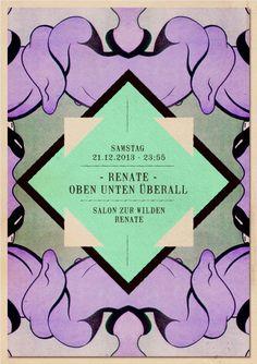 Oben Unten Überall feat. David Dorad | Salon zur Wilden Renate | Berlin | https://beatguide.me/berlin/event/salon-zur-wilden-renate-renate-oben-unten-uberall-20131221