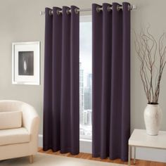 The attractive Majestic Blackout Lined Grommet Window Curtain Panel includes a blackout lining to help block unwanted exterior light. The panel features a faux silk fabric and hangs with stylish grommets. Panels fit up to a diameter rod. Pink Curtains, Cool Curtains, Room Darkening Curtains, Grommet Curtains, Blackout Curtains, Window Curtains, Silver Curtains, Modern Curtains, Valances