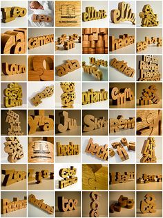 3D #Typography Nuzzles® - Wooden Typographic Puzzles by John Christenson, via Behance