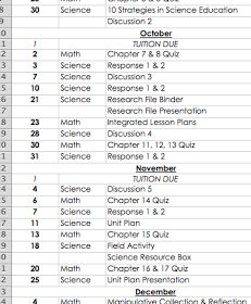 How to Create a Semester Assignment Spreadsheet