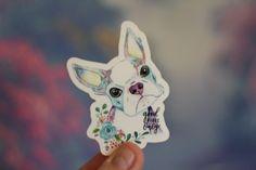 Mimi Boutique, Boston Terrier Art, Shih Tzu Puppy, Waterproof Stickers, King Charles Spaniel, Laptop Decal, Sticker Design, Pet Portraits, Watercolor Art
