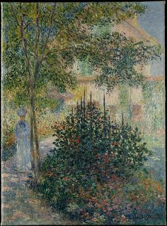 "In 1876, Monet made no less than ten paintings of his rented house and garden at Argenteuil. This canvas may be among the ones he painted in June, when he was working on ""a series of rather interesting new things"