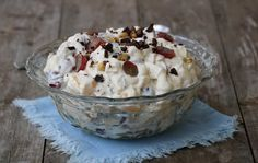 Krema fruktsalat - LINDASTUHAUG Crunches, Muffin, Food And Drink, Ice Cream, Pudding, Sweets, Breakfast, Desserts, Recipes