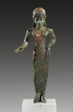 Etruscan bronze figure of a Kore. About 500 B.C.