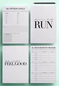 A5 Health and Fitness Planner Pack - Fitness Tracker Printable, 12 Exercise Organizer Pages, Diet Tracker Kit