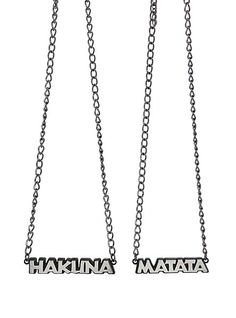 Disney The Lion King Hakuna Matata BFF Necklace 2 Pack | Hot Topic