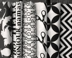 Black and white fabric... my ♥ ~