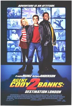 Watch Agent Cody Banks Destination London full hd online Directed by Kevin Allen. With Frankie Muniz, Anthony Anderson, Hannah Spearritt, Cynthia Stevenson. With all-new gadgets, high-flyi 2 Movie, Love Movie, Movie List, Movie Sequels, Comedy Movies, Cody Banks, Frankie Muniz, Anthony Anderson, Movies