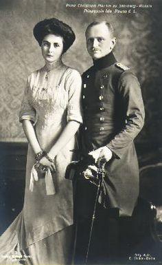 Prince and Princess Christoph Martin III of Stolberg-Roßla. Married: November 7, 1907