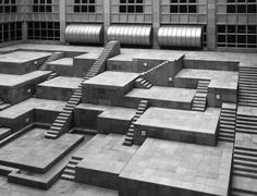 """Now there're National Ethnology Museum, Osaka, Kisho Kurokawa, 1977 by Cortney Cassidy"" Architecture Design, Stairs Architecture, Landscape Architecture, Layered Architecture, Urban Landscape, Landscape Design, Kisho Kurokawa, Interior Stairs, Brutalist"