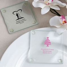 Personalized+Wedding+Design+Glass+Coasters