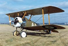 https://flic.kr/p/TtqK6B | Randle Conrad | The Sopwith F1 Camel was a British First World War single-seat biplane fighter aircraft introduced on the Western Front in 1917. Manufactured by the Sopwith Aviation Company, it used a rotary engine, and had twin synchronized machine guns. Though difficult to handle it offered very good manoeuvrability to an experienced pilot. Camel pilots were credited with shooting down 1,294 enemy aircraft, more than any other Allied fighter of the conflict.