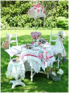 outdoor tea party ♥