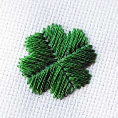 How to do a satin stitch - and learn how to embroider a sweet shamrock for St Patrick's Day at the same time!