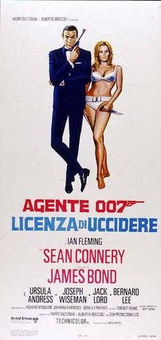 Agente 007. Licenza di uccidere 1962 di Ian Fleming con Sean Connery, Ursula Andress e Bernard Lee