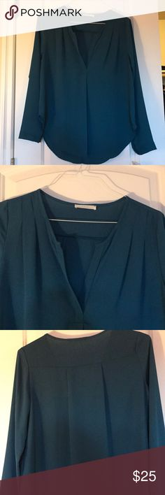 Lush Blue Long Sleeve Blouse New with tags!  Blue long sleeve blouse by Lush. Purchased at Nordstrom Rack. Never worn. Non smoking home. Size M. Lush Tops Blouses