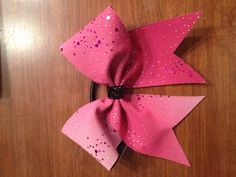 "Pink Sparkle 3"" Cheer Bow"