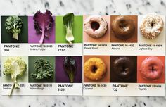 Gourmet and Colorful Pantone Food Series While associated with food Pantone are a great way of expression for artists who wish to establish a creative project. Indeed food can take visual and dimensional graphics that turn aesthetically pleasing when its paired with a color. For the artist Lucia Litman this way of combining fooding and color has become a hobby for our eyes joy. Via CreativeBoom. #xemtvhay