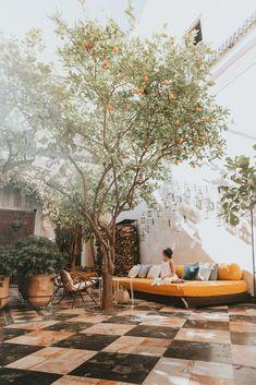 backyard, courtyard and patio goals, El Fenn hotel, Marrakech Outdoor Rooms, Outdoor Gardens, Outdoor Living, Outdoor Decor, Patio Interior, Interior And Exterior, Interior Livingroom, Garden Inspiration, Exterior Design
