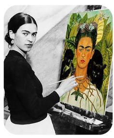 """""""I was born a bitch. I was born a painter"""" - Frida Kahlo. """" I paint self-portraits because I am so often alone,because I am the person I know best""""- Frida Kahlo Diego Rivera, Frida E Diego, Frida Art, Frida Kahlo Artwork, Fridah Kahlo, Mexican Art, Famous Artists, Best Female Artists, Most Famous Paintings"""