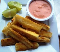 fried yuca.. had some at the Peruvian restaurant we ate at this weekend. love it