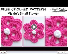 Vickies Small Flower Free Crochet Pattern - Right Handed