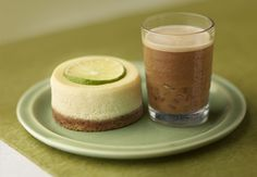 Lime Cheesecake & Frozen Espresso | A dessert lover's dream - savour the sweet creamy richness of this classic cheesecake served with a smoothly satisfying frozen coffee.