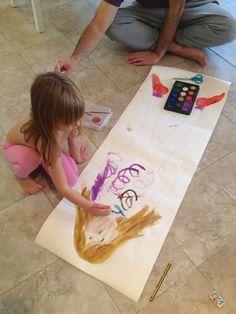 Life-Sized Self-Portrait {a family project} by mamapapabubba #Crafts #Kids #Portrait