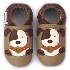 Momo Baby Soft Sole Leather Shoes - Puppy Taupe Momo Baby. $19.00
