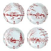 I must have these plates!  Juliska Country Estate Holiday Party Plates, Set of 4