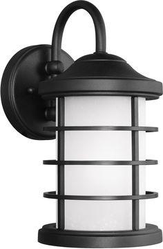 0-021969>Sauganash 1-Light Energy Star Outdoor Wall Lantern Black