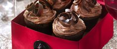 Red Zindandel complements the chocolate flavor in these wine cupcakes.