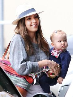 TWO CUTE!    Back from Paris, Jessica Alba keeps close to her little cutie Haven, 10 months, as they head out for lunch in Brentwood, Calif., on Wednesday.