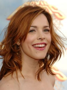 Rachel McAdams medium ginger hair ~~ 21 most famous celebrity redheads to inspire your next hairstyle