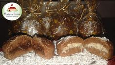 Pão de Mel com recheio de Brigadeiro e de Coco