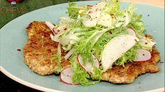 Michael Symon's Pretzel Crusted Pork Cutlets recipe. #thechew