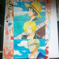 It took me 3days! The monster trio from one piece! Zoro, Sanji and Luffy